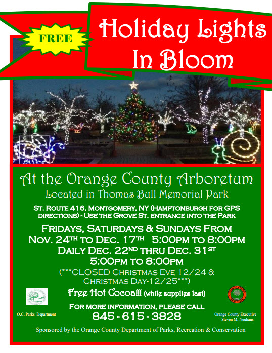 Holiday Lights In Bloom At The Arboretum Hudsonvalleyfyi